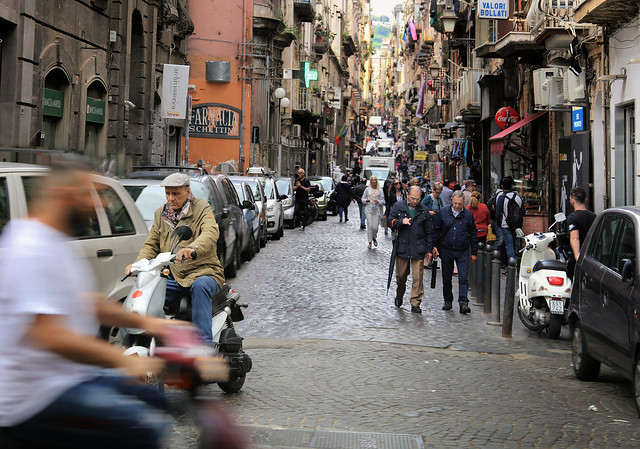 Be careful in Napoli with the Vespas racing by