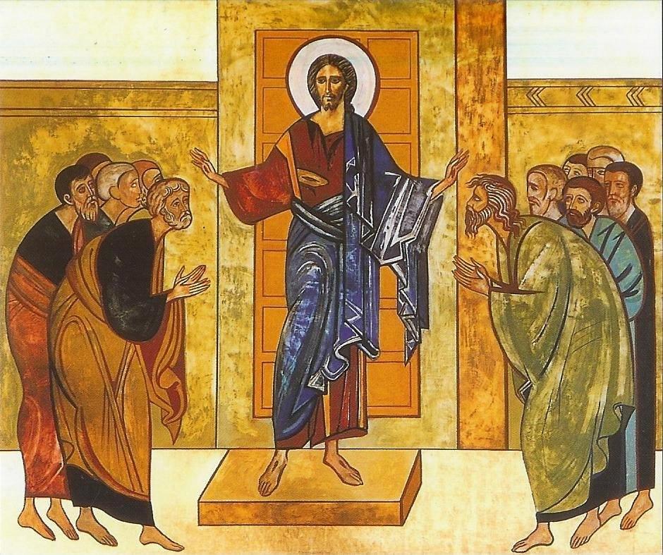 Jesús bautiza a los apóstoles contra el miedo