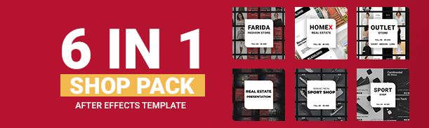 Download Shop Pack // 6 in 1 by 3FiveMotion | VideoHive