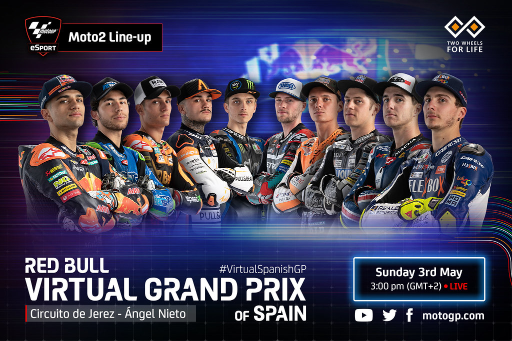 Moto2 Virtual Race Line Up