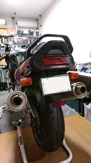 GSX-R1100W w/ stock exhaust system