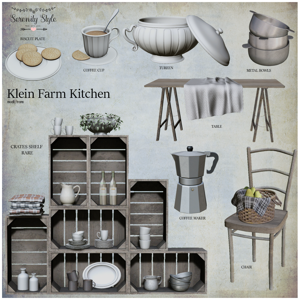 Serenity Stye-Klein Farm Kitchen Gacha