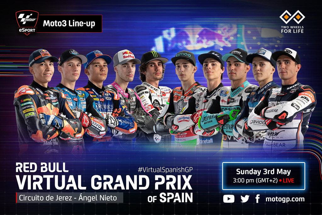 Moto3 Virtual Race Line Up