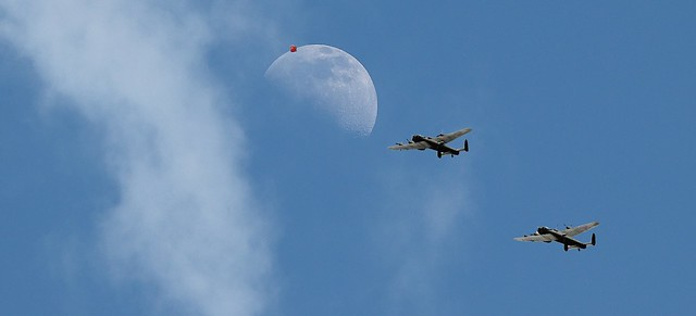 The Moon And The Lancaster Bomber