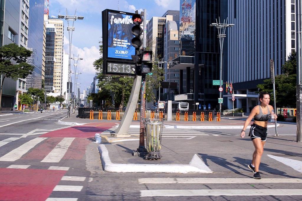 Avenida Paulista em quarentena