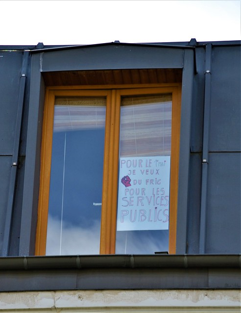Pancarte d'une amie pour le 1er mai, Christine G. 47ème jour de confinement. Bagnolet. 2 mai 2020