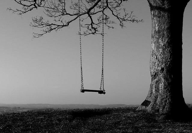 A Moment Frozen in Time - Swing on top of the Hill