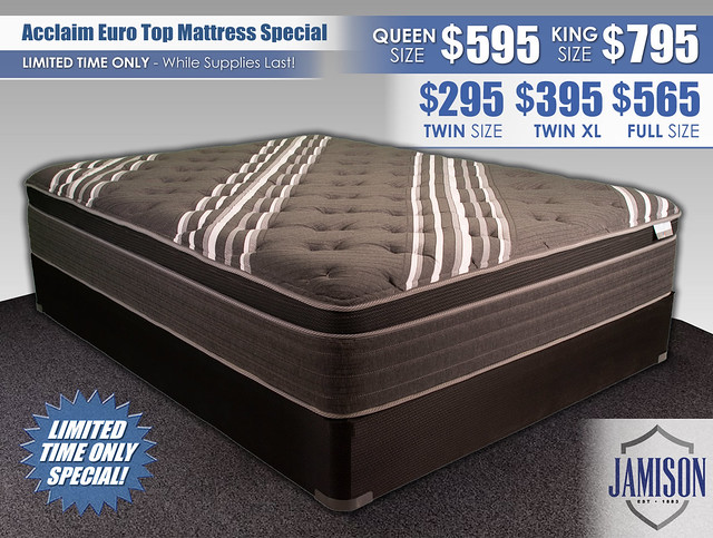 Acclaim Euro Top Mattress Special_Updated Pricing