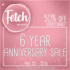 [Fetch] 6 year anniversary sale!