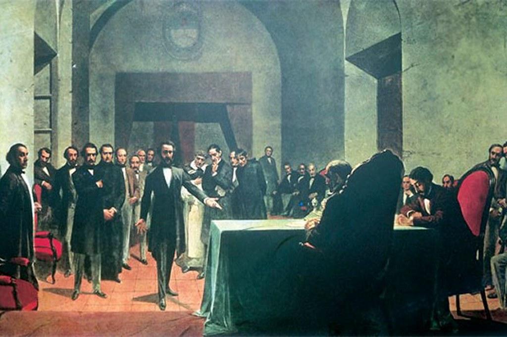 2020-05-02 GOBIERNO: Constitución del 1853 - Óleo de Antonio Alice-