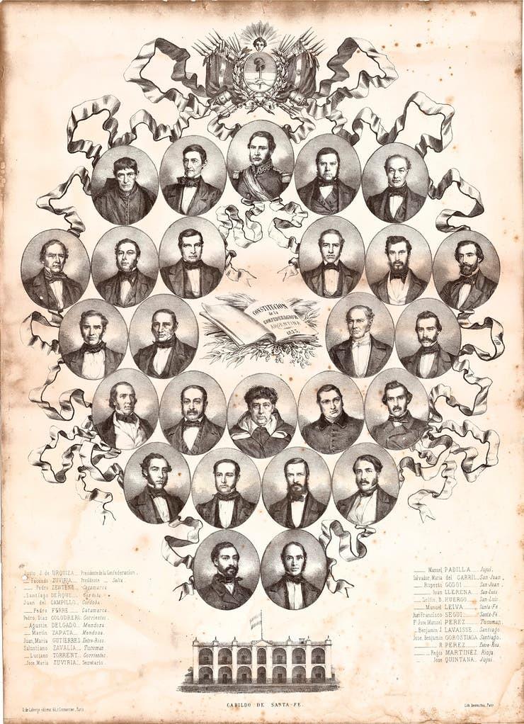 """La """"Unión Nacional"""", punto clave en la Constitución de 1853"""