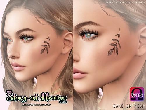 Cheek Twig Tattoo StayAtHome Club