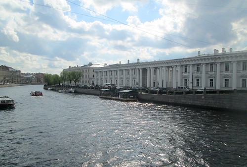 view down Fontanka River, St Petersburg