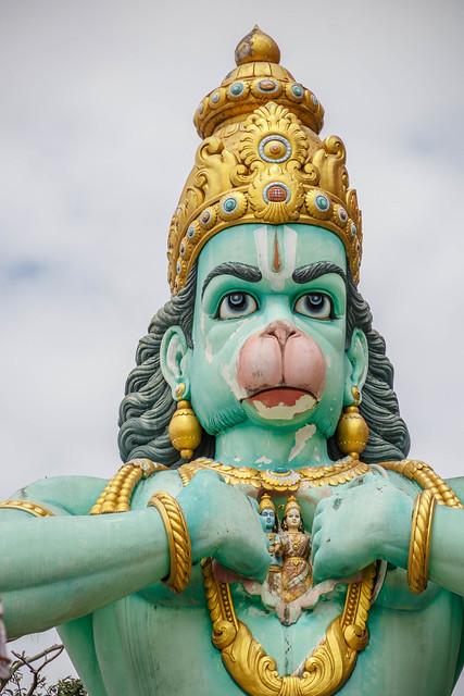 50ft statue of Hanuman