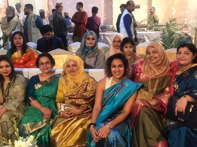 Dottie Bhabi, Amma, Momota Bhabi, Roxane Bhabi, Dalia Bhabi, me, Laiba, Bilkis Apa, and Afroza