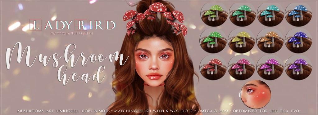 Ladybird. // Mushroom Head for The Kawaii Project! ♥