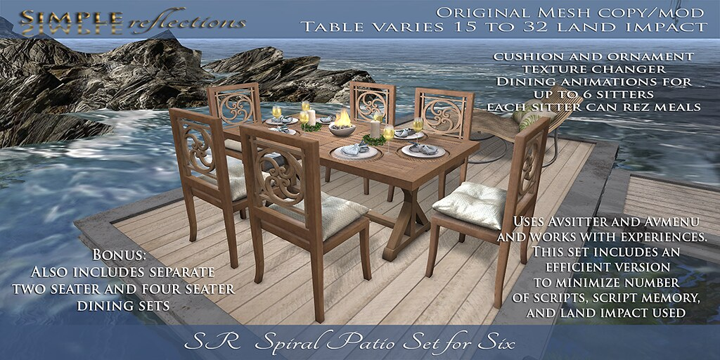 SR Spiral Patio Table for Six