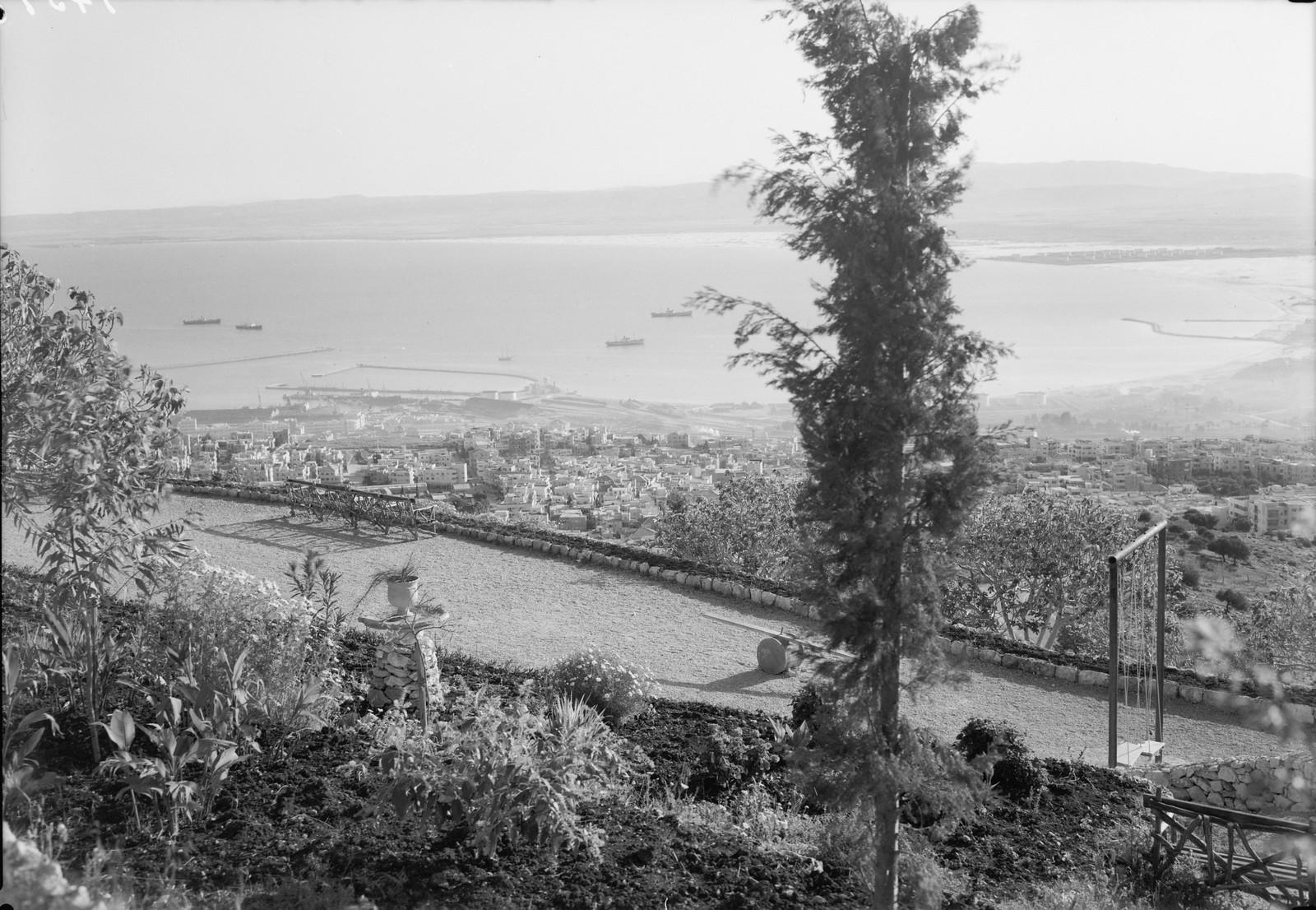 Хайфа. Вид на гавань с террасы на Алленби