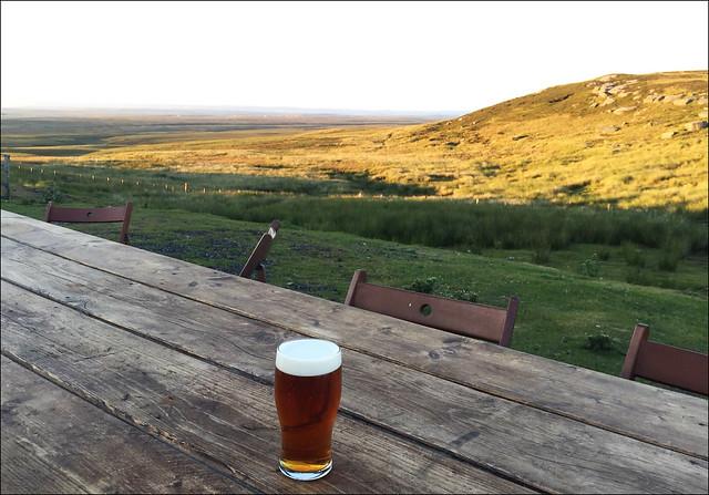 Evening Pint at Tan Hill Inn
