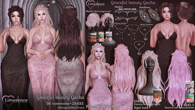 {Limerence} Graceful beauty Gacha special for The Gacha Garden