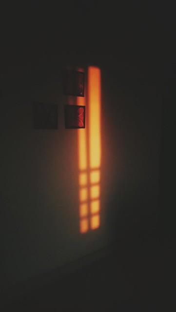 The last of the setting sun