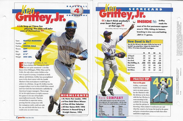 1995 Ken Griffey Jr baseball 02b