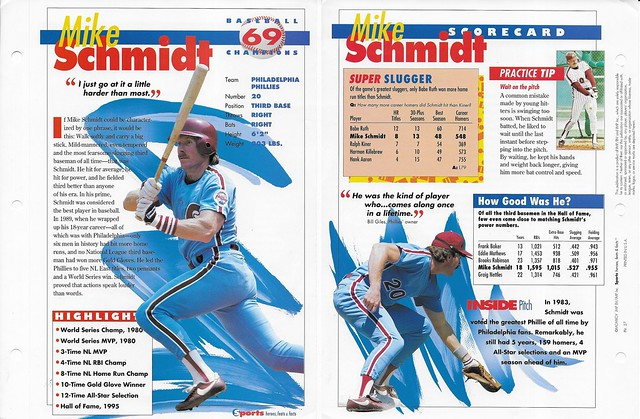 1995 Mike Schmidt baseball 27
