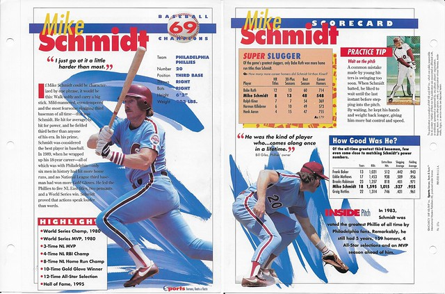 1995 Mike Schmidt baseball 27a