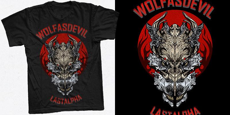 wolf mask mockup