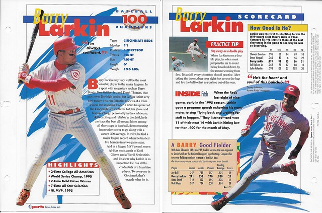 1996 Barry Larkin baseball 50a