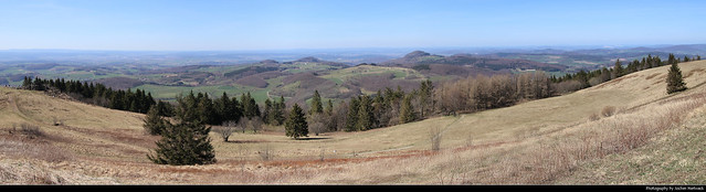 Panoramic view from the summit of Wasserkuppe, Germany