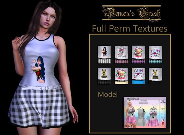[DC] Textures – Madrigal No69 FULL PERM FEMALE Dress