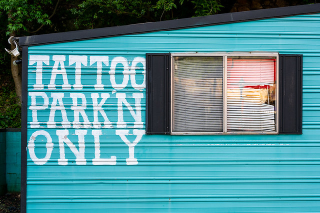 No Tattoo, No Parking, No Excuse.