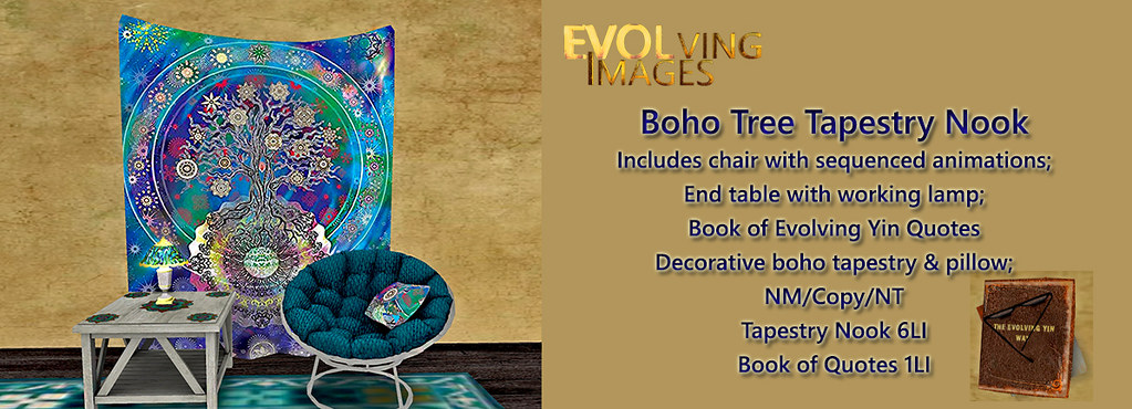 Boho Chair & Tree Tapestry