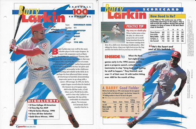 1995 Barry Larkin baseball 50