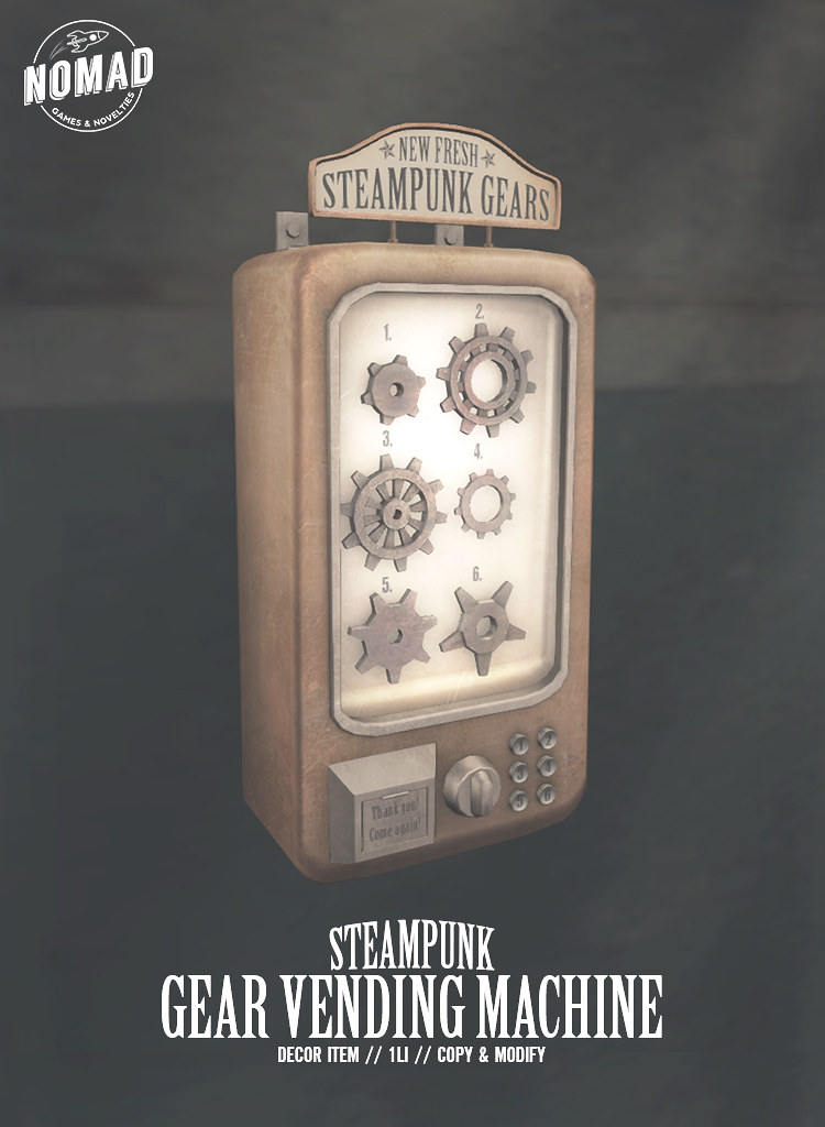 NOMAD – Steampunk Gear Vending Machine
