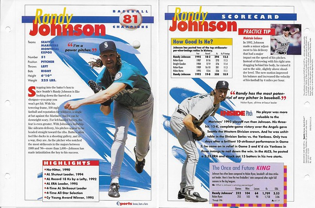 1996 Randy Johnson baseball 39b