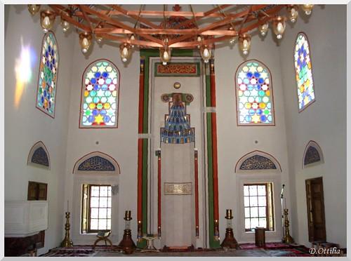 bosniaherzegovina boszniahercegovina banjaluka mosque mecset dzsami stained window ablak vitrazs holyplaces indoor belter exyu xjbljtsd ycabg