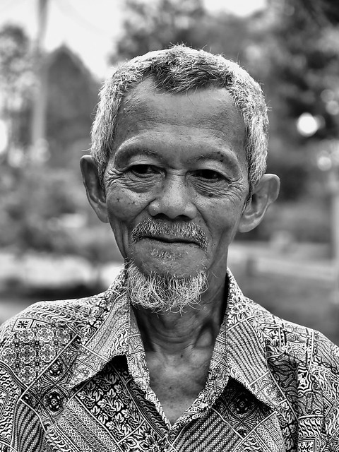 Faces; A wise old Indonesian man