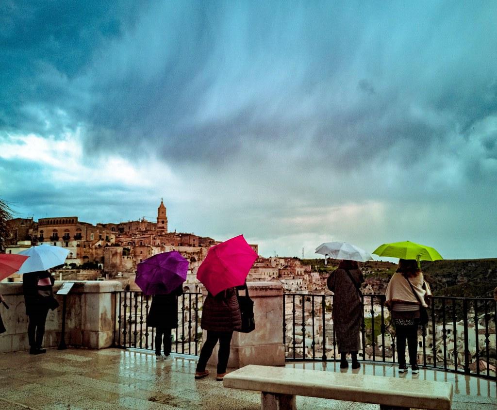 Brutto tempo a Matera