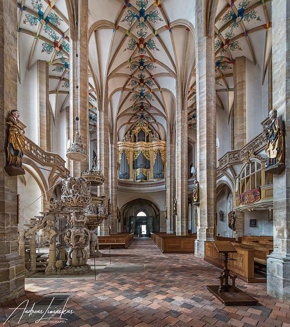 Freiberger Dom Blick zur Silbermann Orgel