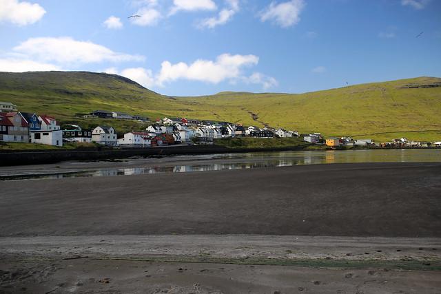 The beach at Sørvágur, Faroe Islands