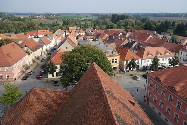 Blick über Beelitz vom Turm der Stadtkirche