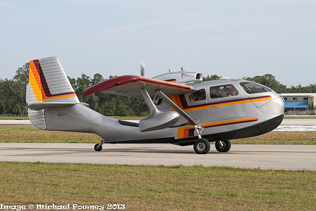 N6267K - 1947 build Republic RC-3 Seabee, taxiing for departure at Lakeland during Sun 'n Fun 2013