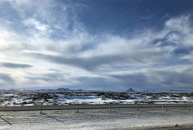 On the road to Keflavik, Iceland