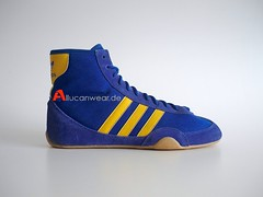 VINTAGE ADIDAS FREESTYLE CANVAS WRESTLING HI SHOES / HI TOPS