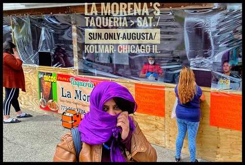 """Post-Covid19-""""Restaurant""""-Mexican Street Food sold from an Auto Repair Shop in an Industrial Area of Chicago's West Side"""