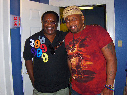 Brother Jess and Aaron Neville at WWOZ - October 12, 2008