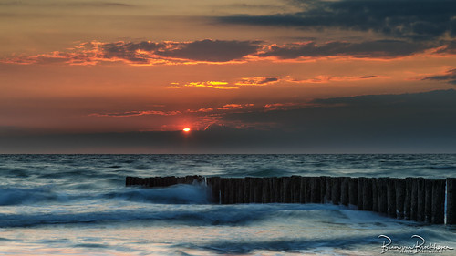 Sunset LE and breakwaters