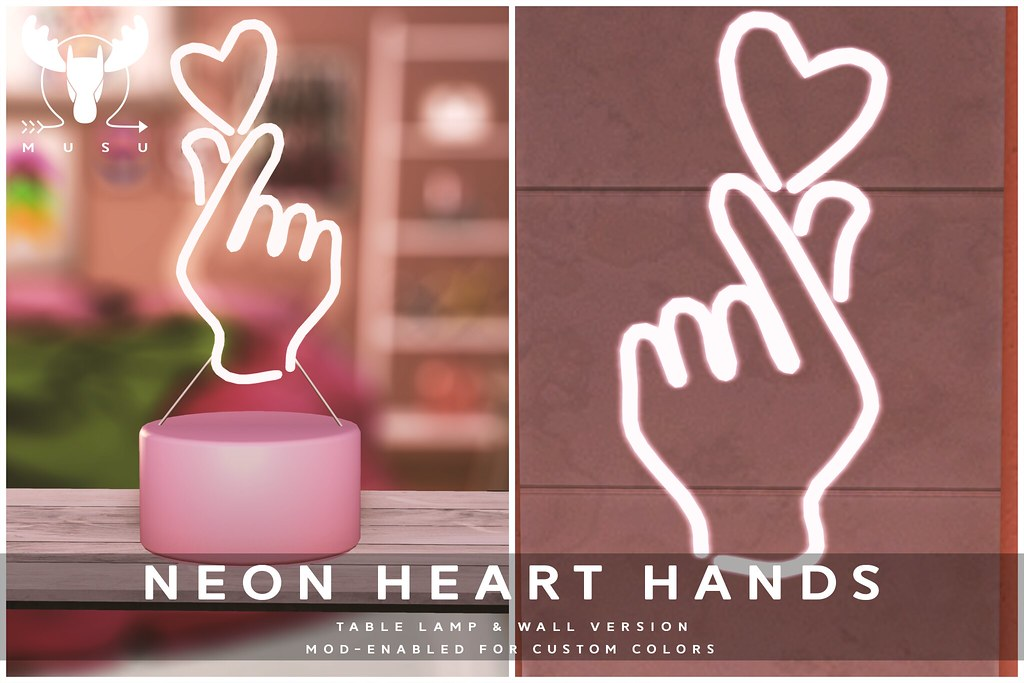 -MUSU- Neon Heart Hands!